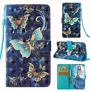 cheap Samsung Case-Case For Samsung Galaxy S9 / S9 Plus / S8 Plus Wallet / Card Holder / Flip Full Body Cases Butterfly Hard PU Leather