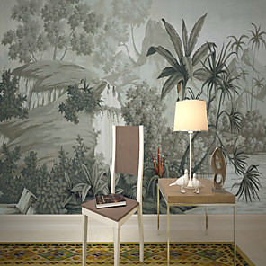 cheap Wallpaper-Wallpaper / Mural Canvas Wall Covering - Adhesive required Painting / Botanical / 3D