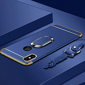 cheap iPhone Cases-Case For Apple iPhone XS / iPhone XR / iPhone XS Max Plating / Ring Holder / Ultra-thin Back Cover Solid Colored Hard PC