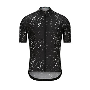 cheap Cycling Jerseys-Men's Short Sleeve Cycling Jersey Black Dot Bike Jersey Top Sports Clothing Apparel / High Elasticity
