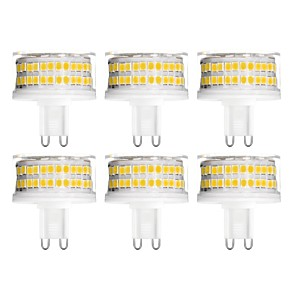 cheap LED Bi-pin Lights-6pcs 9 W LED Bi-pin Lights 900 lm G9 T 88 LED Beads SMD 2835 Dimmable Warm White Cold White Natural White 200-240 V