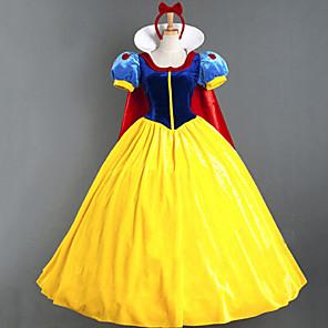 cheap Movie & TV Theme Costumes-Princess Masquerade Women's Movie Cosplay Princess Yellow Dress Cloak Halloween Carnival Masquerade Cotton Polyster