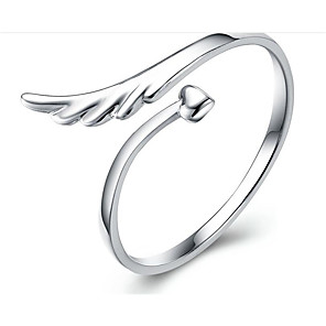 cheap Rings-Women's Ring 1pc Silver S925 Sterling Silver Geometric Fashion Gift Daily Jewelry Classic Wings Lovely