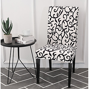 cheap Chair Cover-Slipcovers Chair Cover Printed Polyester/ Classic Black & White/ Floral Pattern/ Highly Stretchy