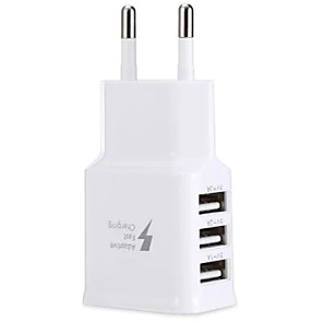 cheap Wall Chargers-New Hot Travel 5V 2A 3Ports USB EU Wall AC Adptive Fast charger Adapter for Samsung quick charger portable charger