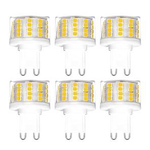 cheap LED Bi-pin Lights-6pcs 5 W LED Bi-pin Lights 500 lm G9 T 52 LED Beads SMD 2835 Dimmable Warm White Cold White Natural White 200-240 V