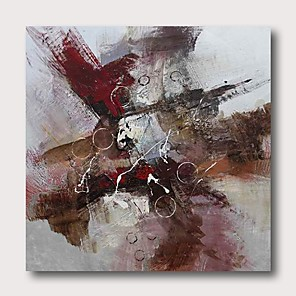 cheap Wallpaper-Oil Painting Hand Painted - Abstract Comtemporary Modern Stretched Canvas