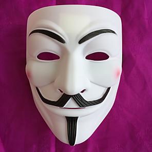 cheap Halloween & Carnival Costumes-Mask Halloween Mask Inspired by V for Vendetta Black Golden Halloween Halloween Masquerade Adults' Men's