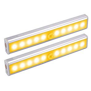 cheap LED Cabinet Lights-2pc Infrared Sensor Lamp Human Body Induction Night Light LED Under Cabinet Lighting Sensitive PIR Induction Light Motion Sensor Light Lamp