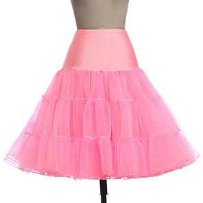 cheap Movie & TV Theme Costumes-Petticoat Hoop Skirt Tutu Under Skirt 1950s Pink Ink Blue Ivory Petticoat / Crinoline