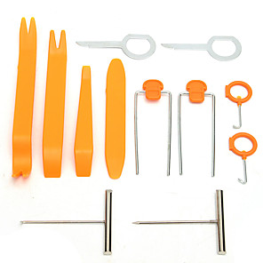 cheap Vehicle Repair Tools-12pcs Car Audio Stereo Open Pry Tools Removal Kit Dash Door Audio Trim Removal Tool Kit