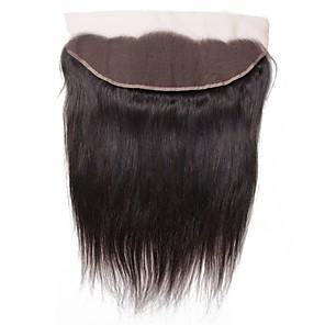 cheap Human Hair Weaves-1 Bundle Hair Weaves Brazilian Hair Straight Human Hair Extensions Virgin Human Hair 100 g Wig Accessories Hair Weft with Closure 8-20 inch Natural Color Lace Classic New Arrival / 4x13 Closure
