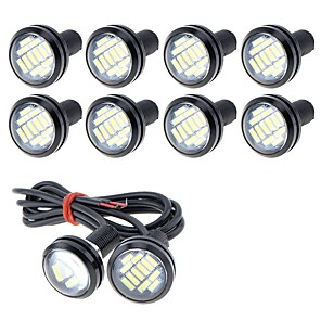 cheap Car Decoration Lights-10pcs Wire Connection Motorcycle / Car Light Bulbs 5 W SMD 4014 250 lm 12 LED Fog Lights / Daytime Running Lights / License Plate Lights For universal
