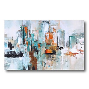 cheap Framed Arts-Oil Painting Hand Painted - Abstract Comtemporary Modern Stretched Canvas