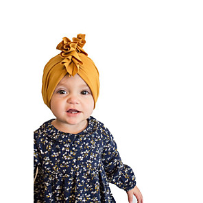 cheap Kids' Hats & Caps-Toddler Girls' Basic / Sweet Solid Colored / Striped Linen Hats & Caps / Hair Accessories Purple / Yellow / Fuchsia One-Size