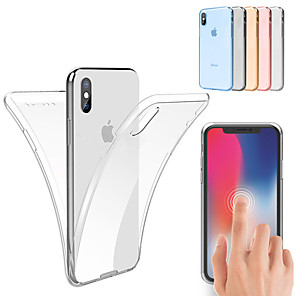 economico Custodie per iPhone-Custodia Per Apple iPhone 11 / iPhone 11 Pro / iPhone 11 Pro Max Resistente agli urti / Ultra sottile / Transparente Integrale Tinta unita Morbido TPU