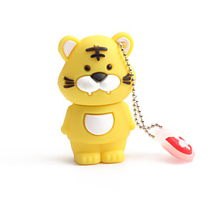 cheap Optical Drives-64GB PVC Zodiac Tiger USB Flash Drives USB 2.0 Creative For Car