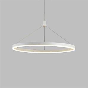 cheap Circle Design-1-Light OYLYW 60 cm Pendant Light Metal Acrylic Circle Painted Finishes LED Modern AC100-240V