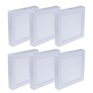 cheap LED Recessed Lights-JIAWEN 6pcs 6 W 480 lm 30 LED Beads Easy Install LED Panel Lights Warm White Cold White 85-265 V