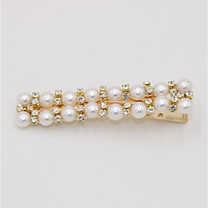 cheap Hair Jewelry-Women's Party Active Cute Imitation Pearl Rhinestone Alloy Solid Colored