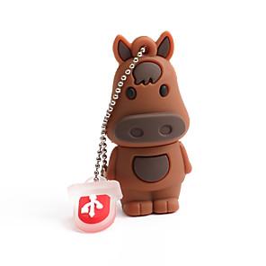 cheap USB Flash Drives-64GB PVC Zodiac horse USB Flash Drives USB 2.0 Creative For Car