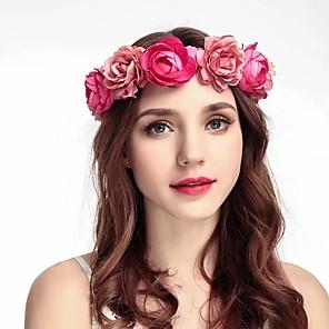 povoljno Party pokrivala za glavu-Platno Trake za kosu / Headpiece s Uzde / Cvjetni print 1 komad Vjenčanje / Special Occasion Glava