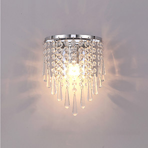 cheap Pendant Lights-JSGYlights Crystal / Mini Style Simple / Modern Contemporary Wall Lamps & Sconces Living Room / Bedroom Metal Wall Light 110-120V / 220-240V 60 W