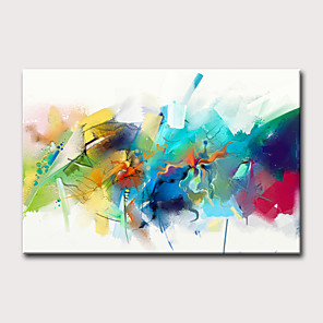 cheap Abstract Paintings-Oil Painting Hand Painted Abstract Holiday Classic Modern Rolled Canvas Rolled Without Frame