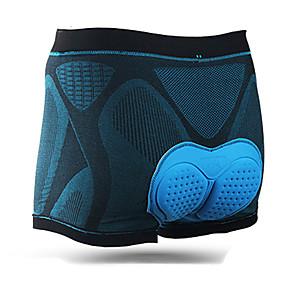 povoljno Biciklističke hlače, kratke hlače i tajice-Mountainpeak Muškarci Biciklističke gaćice Likra Bicikl Donje rublje Shorts Podstavljene kratke hlače Prozračnost Pad 3D Quick dry Sportski Crna / plava Brdski biciklizam biciklom na cesti Odjeća