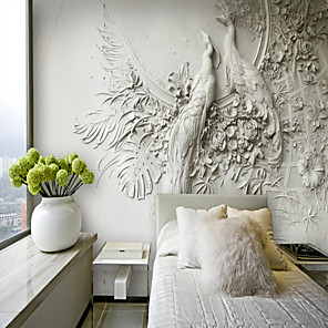 cheap Wall Stickers-Wallpaper / Mural Canvas Wall Covering - Adhesive required Art Deco / Pattern / 3D