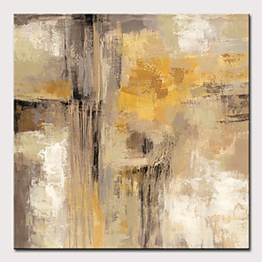 cheap Abstract Paintings-Oil Painting Hand Painted Abstract Modern Stretched Canvas With Stretched Frame