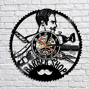 cheap Wall Clocks-Barber shop clock decoration wall clock hairdresser vinyl wall clock