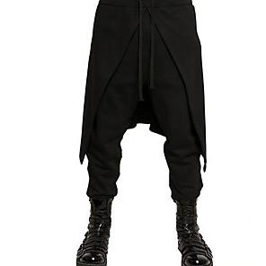 povoljno Stare svjetske nošnje-Vitez Renesansa Drevni Rim Hlače Povorka maski Muškarci Kostim Crn Vintage Cosplay Halloween Maškare