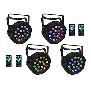 cheap Stage Lights-ZDM® 4pcs 18 W 1000-1200 lm 18 LED Beads Remote Control / RC Easy Install New Design LED Stage Light / Spot Light RGB 110-240 V Ceiling Commercial Stage