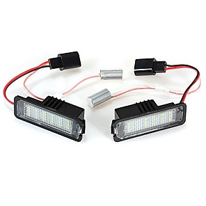 cheap License Plate Lights-2pcs Car Light Bulbs SMD LED 18 LED License Plate Lights For Volkswagen / Passat Polo All years