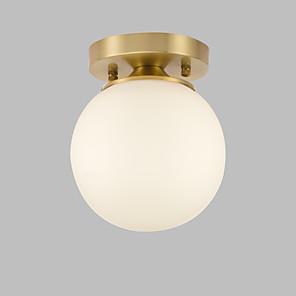 cheap Ceiling Lights-1-Light JSGYlights 14 cm Flush Mount Lights Copper Glass Brass Contemporary / Modern 110-120V / 220-240V / E26 / E27
