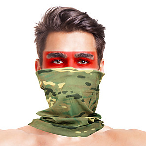 cheap Eyeshadows-Balaclava Camo / Camouflage Windproof Breathable Fast Dry Dust Proof Bike / Cycling Khaki fluorescent green Dark Green for Men's Adults' Ski / Snowboard Outdoor Exercise Motobike / Motorcycle Solid
