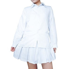 cheap Anime Costumes-Inspired by Cosplay The Promised Neverland Emma Anime Cosplay Costumes Japanese Cosplay Tops / Bottoms Classic Long Sleeve Costume For Women's