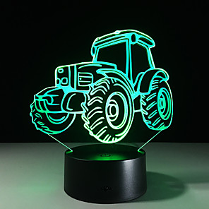 cheap Décor & Night Lights-N / A 3D Nightlight For Children / Color-Changing / Creative USB 1pc