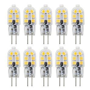 cheap LED Bi-pin Lights-10PCS G4 3W 180lm 12LED 2835SMD Warm White Natural White Cool White 360 Degree Transparent Shell LED Bi-pin Lights DC 12V