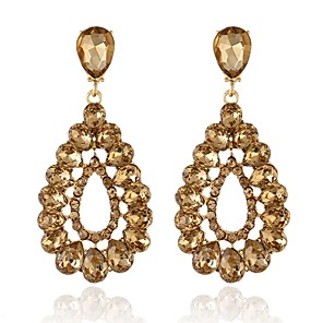 cheap Necklaces-Women's Drop Earrings Elegant Imitation Diamond Earrings Jewelry Fuchsia / Champagne / Gold For Wedding Party Anniversary Evening Party Engagement 1 Pair