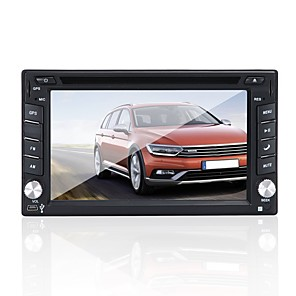 cheap Car DVD Players-Factory OEM YYD-6200 6.2 inch 2 DIN Windows CE 5.0 In-Dash Car DVD Player Touch Screen / Built-in Bluetooth / Steering Wheel Control for Toyota / Nissan / Honda RCA / Mini USB / AV out Support AVI