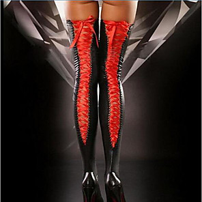 cheap Women's Boots-Women's Thin Super Sexy Stockings - Solid Colored 30D Black Red Purple One-Size