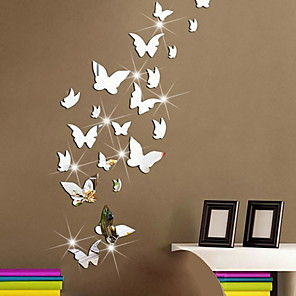 cheap Wall Stickers-Shapes Wall Stickers Plane Wall Stickers Decorative Wall Stickers, Plastic & Metal Home Decoration Wall Decal Wall Decoration 1 set