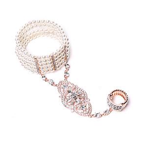 cheap Door Locks-The Great Gatsby 1920s The Great Gatsby Masquerade Women's Costume Ring Bracelet / Slave bracelet White / Fuchsia Vintage Cosplay Party Halloween / 1 Bracelet / 1 Bracelet