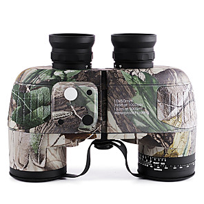 cheap CCTV Cameras-10 X 50 mm Binoculars with Rangefinder and Compass Lenses Waterproof Adjustable Night Vision Fully Multi-coated BAK4 Camping Hiking Hunting Fishing Bird watching Wildlife Watching Natural Rubber
