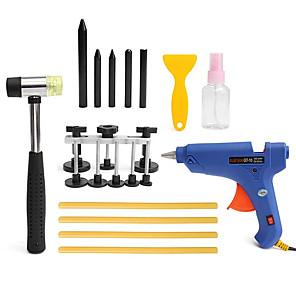 cheap Car Paint Pen-19pcs PDR Car Body Dent Repair Kit Hammer Puller Glue Gun Balance Bridge Scraper