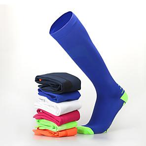 povoljno Kopačke-Muškarci Žene Sport čarape / atletske čarape Biciklističke čarape Kompresija Čarape Duge čarape Prozračnost Anti-Slip Puha Izzadás-elvezető Podrška Crn Orange+White Blue + Orange Likra Zima Cestovni