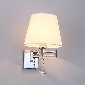 cheap LED String Lights-JSGYlights Crystal / New Design Simple / Modern Contemporary Swing Arm Lights Living Room / Bedroom Metal Wall Light 110-120V / 220-240V 60 W