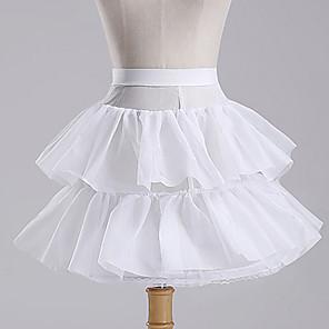 cheap Movie & TV Theme Costumes-Petticoat Hoop Skirt Tutu Under Skirt 1950s White Petticoat / Crinoline